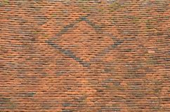 古老铺磁砖的屋顶细节  库存图片