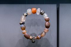 古老镯子被找到在Qumran站点 库存图片