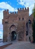 古老门在城市托莱多 免版税库存图片