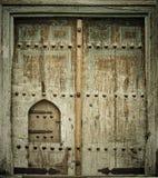 古老门的特写镜头图象 免版税库存照片