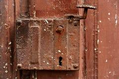 古老门锁 库存图片