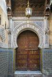 古老门,摩洛哥 库存照片