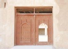 古老门, Zubarah堡垒,卡塔尔大门  免版税库存照片