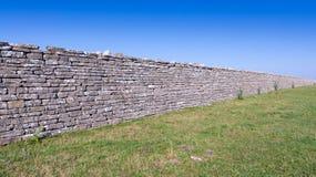 古老防御墙壁 库存图片