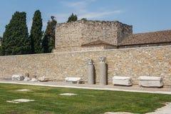 古老阿奎莱亚的废墟 免版税库存图片