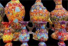 古老阿拉伯伊斯兰教的设计瓦器米底巴约旦 免版税库存图片