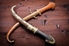古老阿拉伯匕首 免版税库存图片