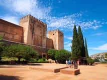 古老阿拉伯堡垒阿尔罕布拉宫 2014年8月30日格拉纳达,西班牙 库存图片