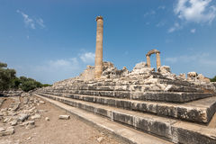 古老阿波罗寺庙废墟在Didyma 免版税库存图片