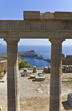 古老阿波罗罗得斯寺庙 免版税库存照片