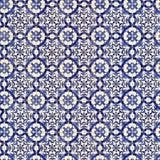 古老陶瓷模式无缝的瓦片瓦片 免版税库存照片
