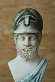 古老雅典政治家Pericles雕象  库存图片