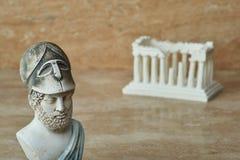 古老雅典政治家Pericles雕象  免版税库存照片