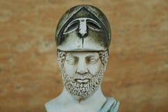 古老雅典政治家Pericles雕象  库存照片