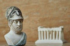 古老雅典政治家Pericles雕象  免版税图库摄影