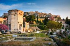 古老雅典的废墟。 库存照片