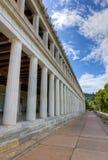 古老雅典attalus希腊stoa 库存照片