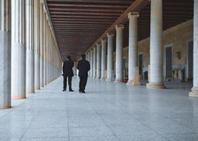 古老集市的雅典希腊博物馆 免版税图库摄影