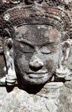 古老雕刻的高棉 免版税库存照片