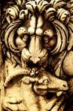 古老雕塑 免版税库存照片