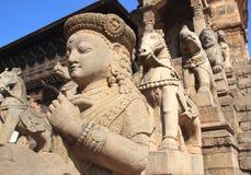 古老雕象在尼泊尔。 免版税库存照片