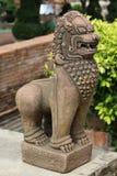 古老雕象在泰国 免版税库存图片