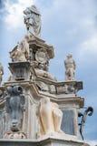 古老雕象在巴勒莫 库存照片