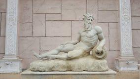 古老雕象宙斯 库存照片