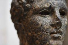 古老雕象胸象 库存图片