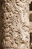 古老雕刻的专栏 免版税库存图片