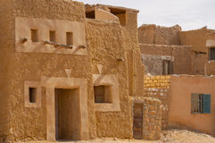 古老非洲巴巴里人城市堡垒废墟  库存图片