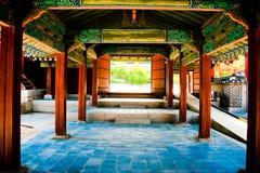 古老韩国路 免版税图库摄影
