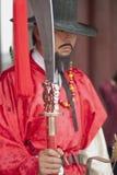古老韩文战士 免版税图库摄影