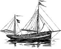 古老风船 免版税库存照片