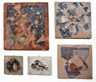 古老马赛克在提洛岛 免版税库存照片