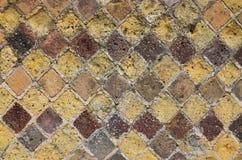 古老马赛克的背景 免版税图库摄影