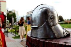 古老骑士盔甲 图库摄影