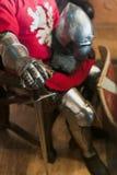古老骑士铁手套 库存图片