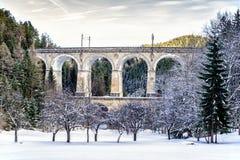 古老高架桥在下奥地利州 免版税库存图片