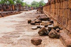古老高棉文明,吴哥窟,柬埔寨废墟  库存照片