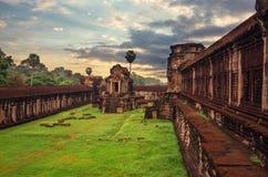 古老高棉建筑学 库存照片