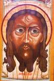 古老黑色图标耶稣 免版税库存照片