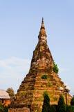 古老黑色老挝老stupa万象 免版税库存照片
