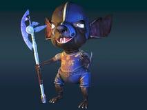 古老鼠战士3d例证 库存图片