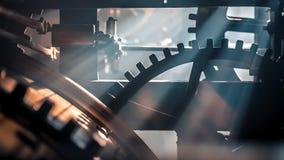 古老齿轮和钟表机构 股票录像