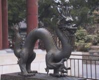 古老龙雕象 图库摄影