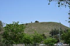 古老,圣经的约克尼穆Tel约克尼穆 以色列 向量例证