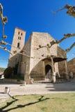 古老14世纪教会圣玛丽亚del卡斯蒂略在布伊特拉戈de洛索亚,马德里,西班牙 免版税库存照片