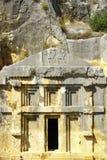 古老死的镇在迈拉代姆雷土耳其 库存照片