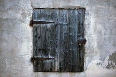 古老黑窗口 免版税图库摄影